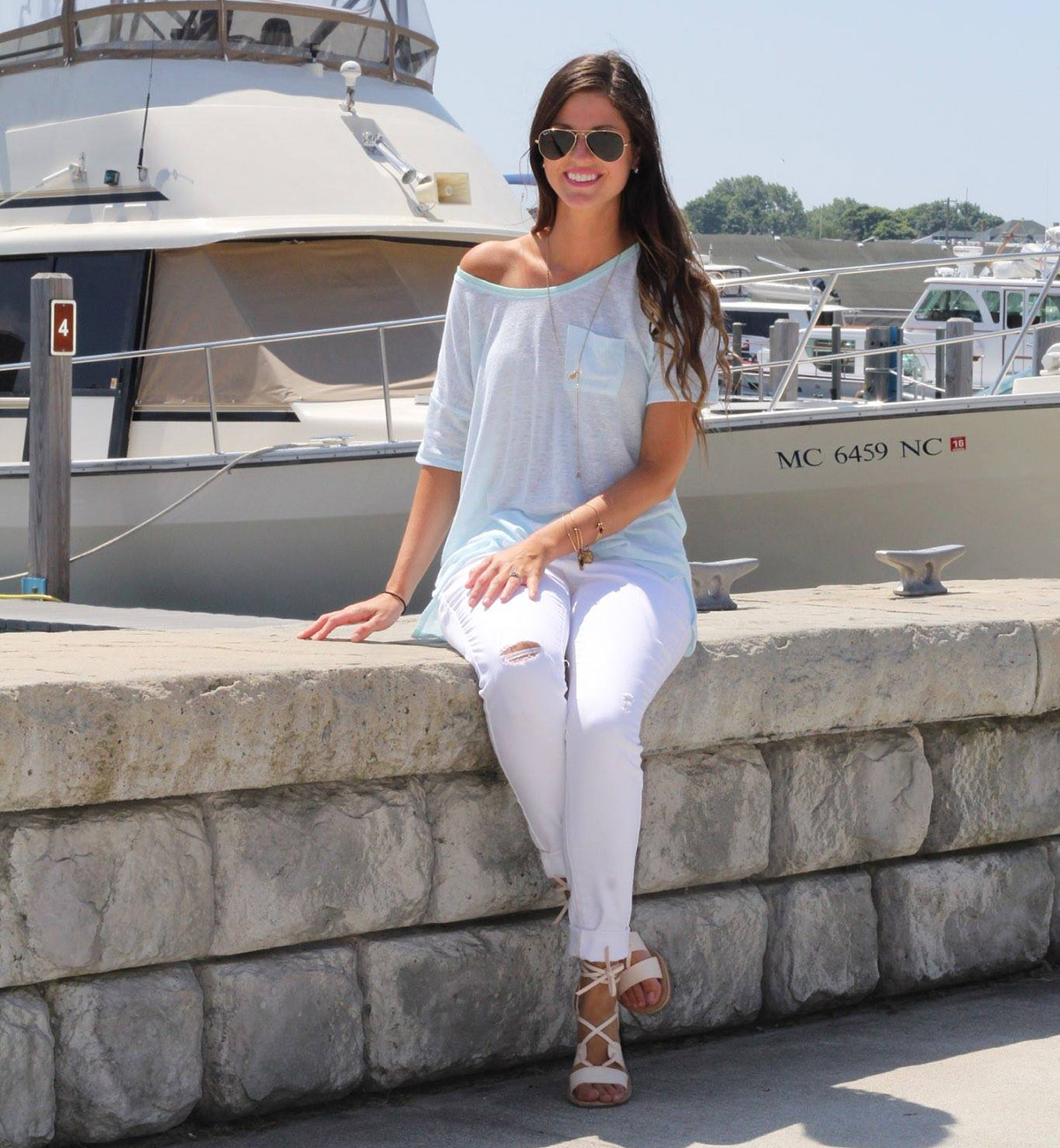Swing Top with White Skinny Jeans