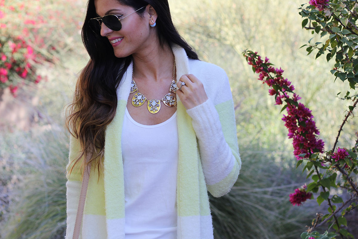 Long Cardigan and Statement Necklace