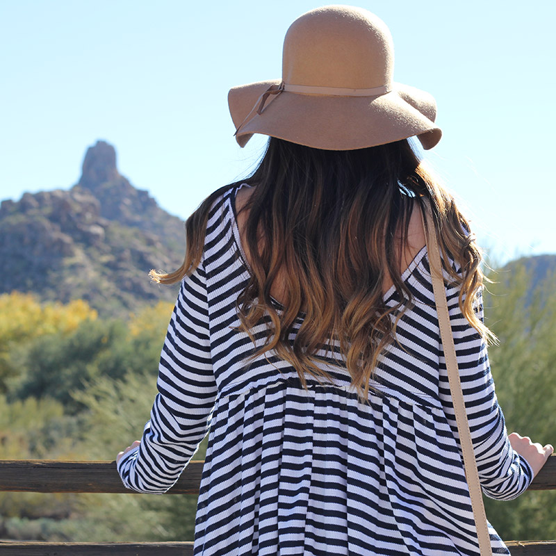 Striped Top and Floppy Hat
